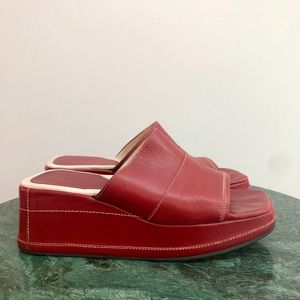 Vintage Red Platforms by Coach